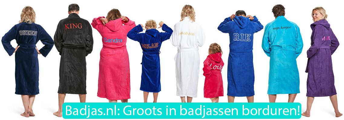 badjas met naam of tekst