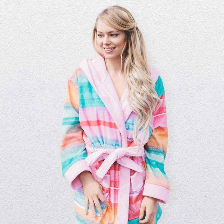 Roze badjassen voor jonge & wat oudere meiden