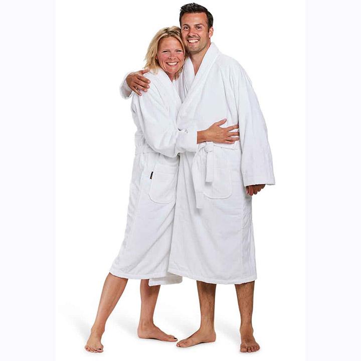 5x witte badjassen