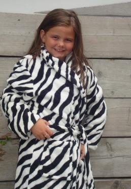 Little Zebra badjas - kinderbadjas - L (9-10 jaar)