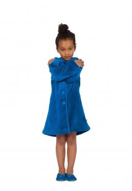 Woody kinderbadjas blauw - 4 jaar