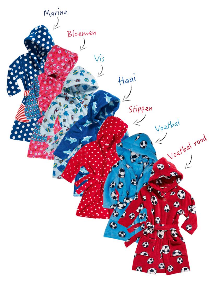 Kinderbadjassen met print-Stippen-98/104