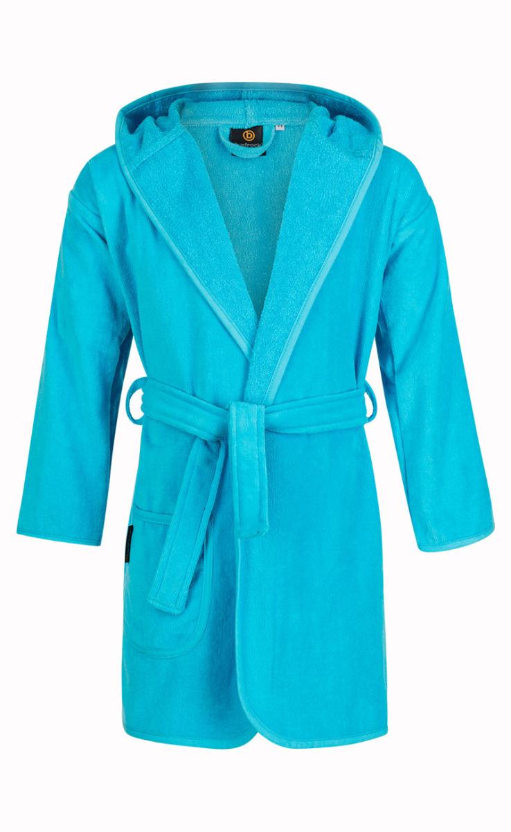 Baby badjas aquablauw met capuchon-0-12 mnd (80)