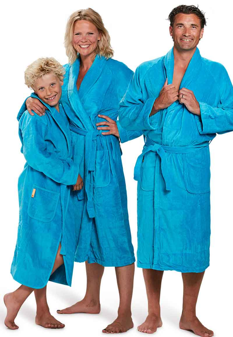 Badjas aquablauw - S/M