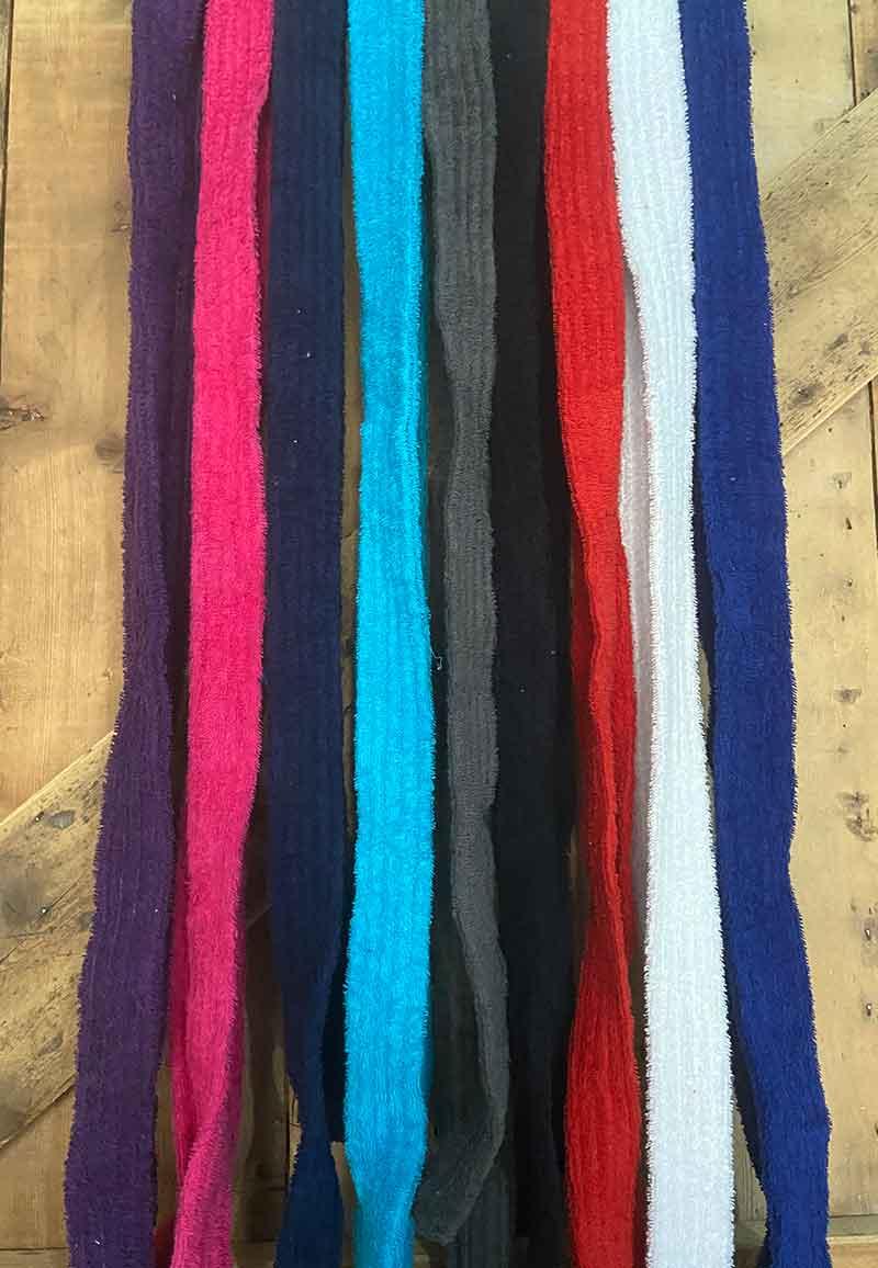 Badjas ceintuur badstof - diversen kleuren-antraciet