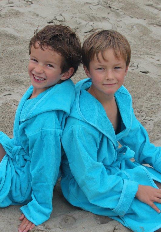 Kinderbadjas in diversen kleuren - Turquoise 1-2 jaar