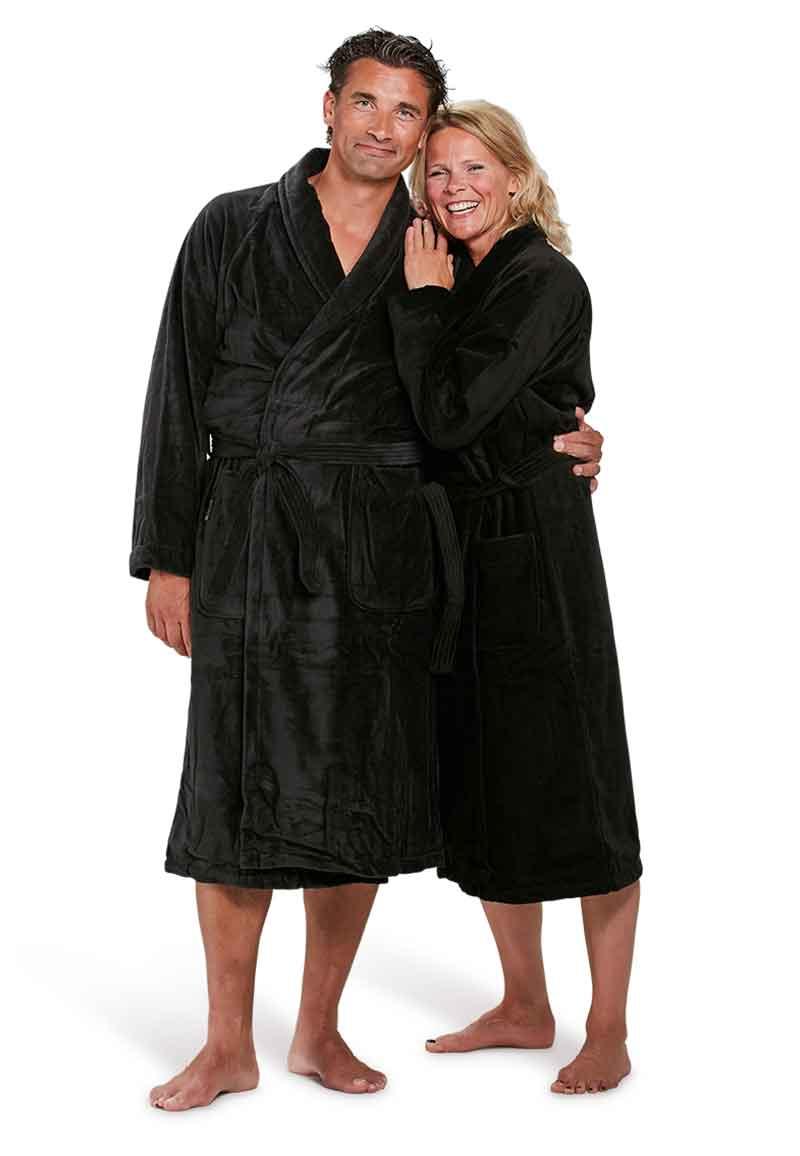 Badjas zwart - L/XL