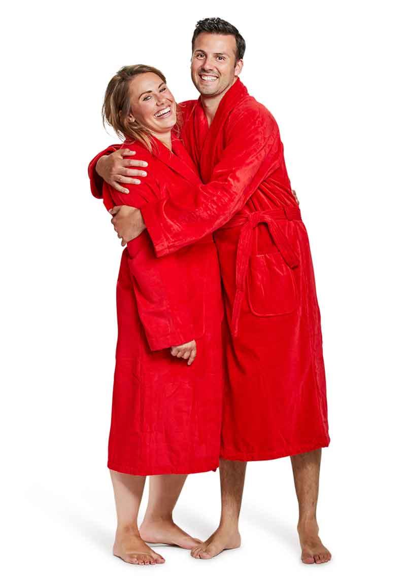 Badjas rood - XS