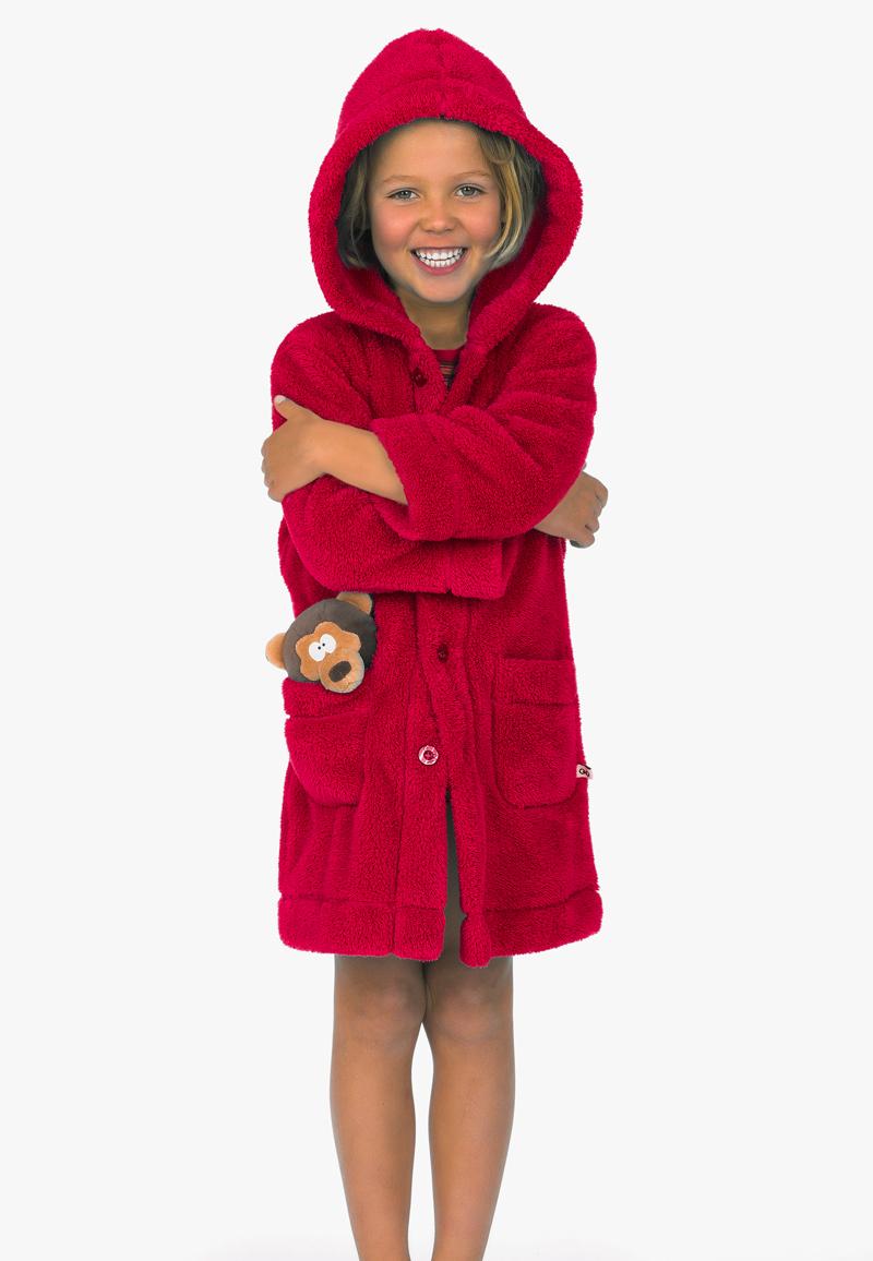 Rode kinderbadjas van Woody-10 jaar