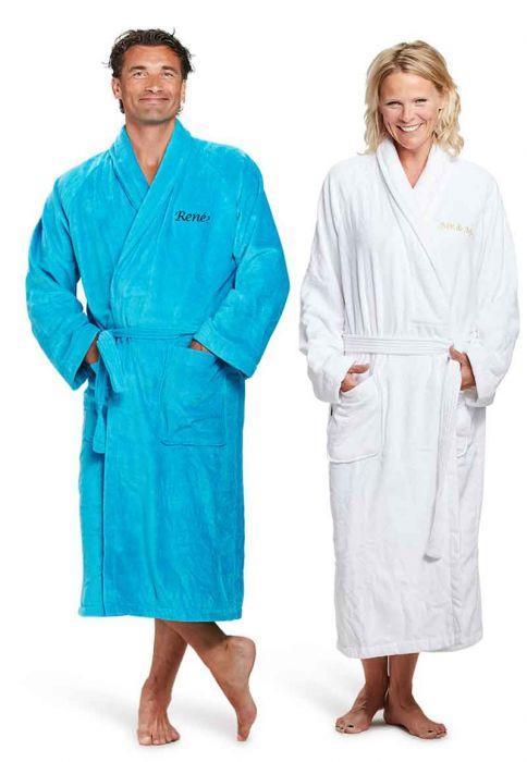 de5d88a1cbe Badjas met naam / geborduurde badjas