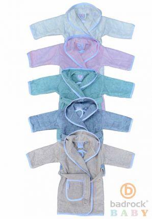 Baby badjas met capuchon – katoen – keuze uit 5 kleurtjes
