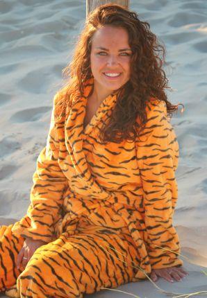badjas met tijgerprint