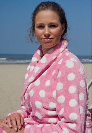 Pink dottie / Dames badjas