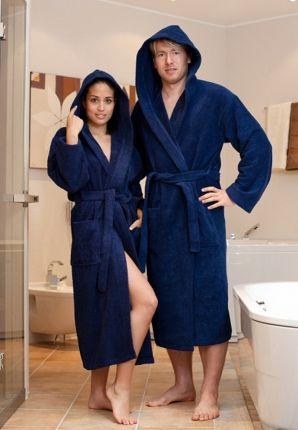 badstof badjas grote maat marinablauw
