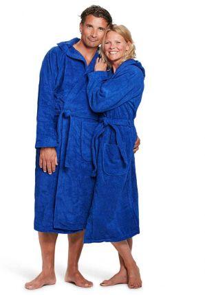 capuchon badjas kobaltblauw badrock