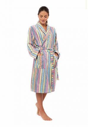 dames badjas kleurrijk