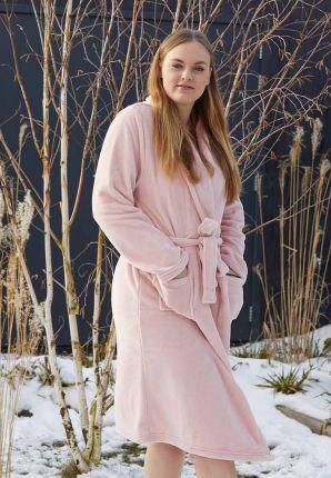 Oud roze badjas fleece