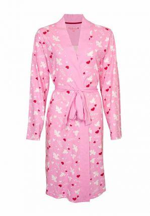 Roze hartjes kimono dun katoen