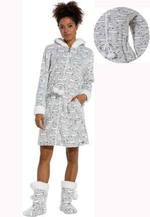 Fleece badjas teckels – capuchon badjas