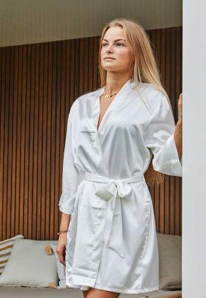 satijnen kimono dames wit