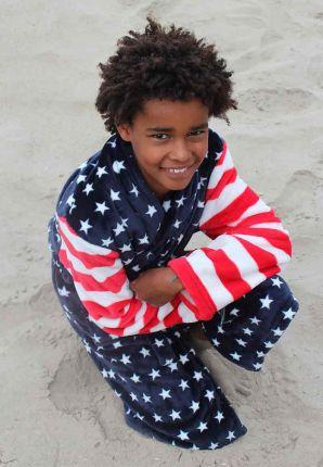 Kinderbadjas amerikaanse vlag
