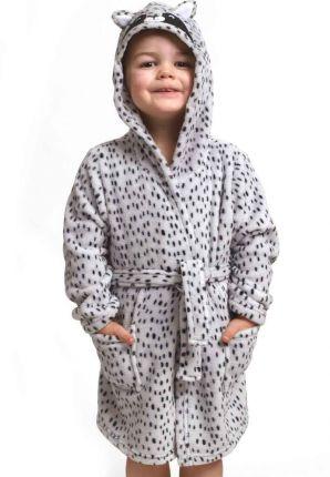 Kinderbadjas wasbeer met oortjes