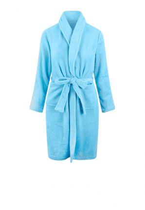 Lichtblauwe kinderbadjas fleece