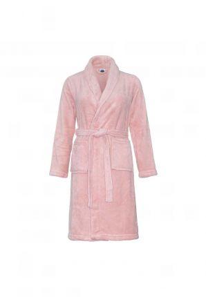 Oud roze kinderbadjas fleece