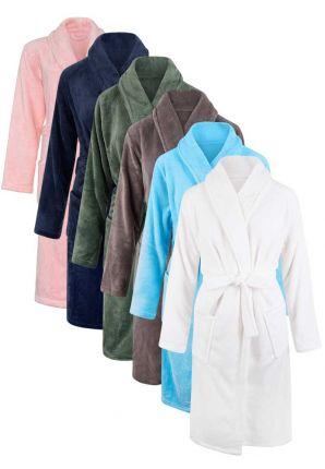 Fleece kinderbadjas borduren – 6 kleuren