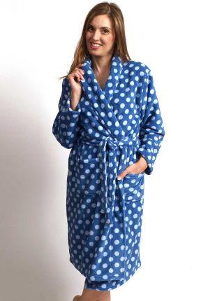 Blauwe damesbadjas stippen