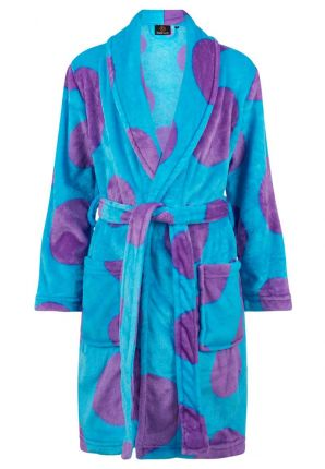 stippen kinderbadjas fleece