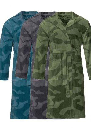 Heren badjassen camouflage