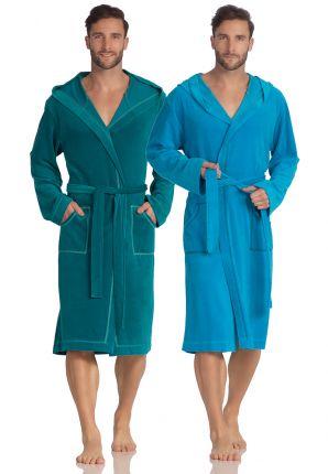 Vossen badjas met capuchon