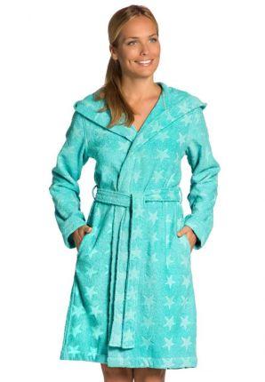 Badstof badjas dames met sterren