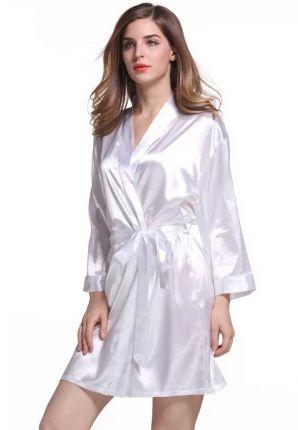 Satijnen kimono dames – wit