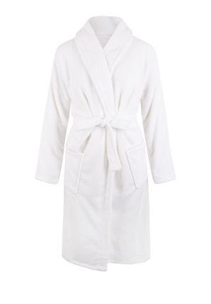 Witte badjas fleece - unisex