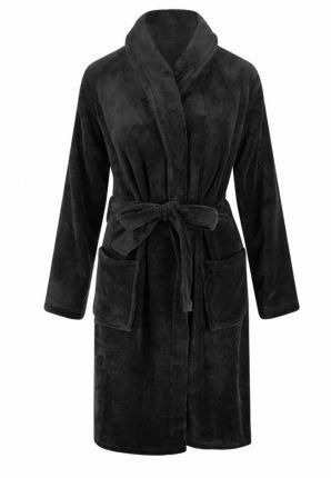marineblauwe badjas fleece - unisex