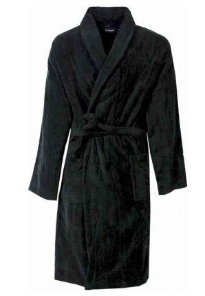 Zwarte fleece badjas basic line