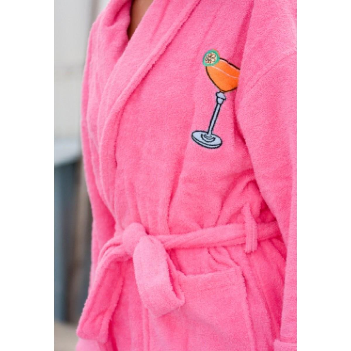 Roze badjas dames