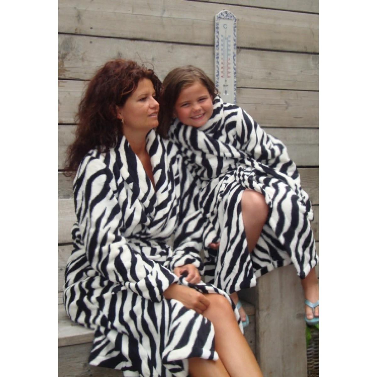 Kinderbadjas met zebraprint