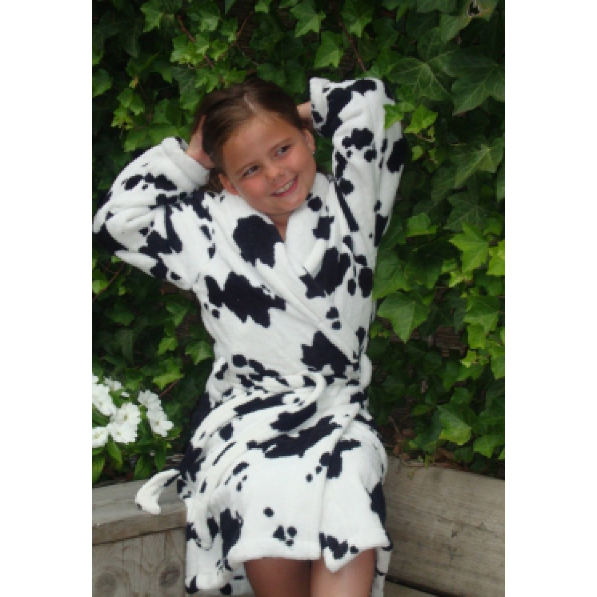 Kinder badjas met koeienprint