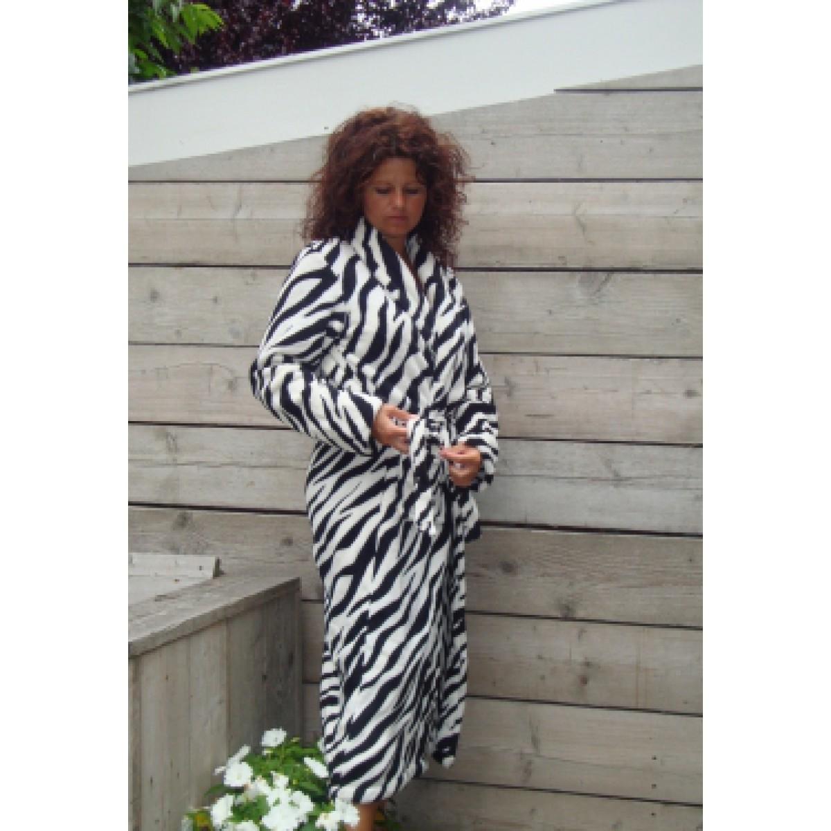 Damesbadjas zebraprint
