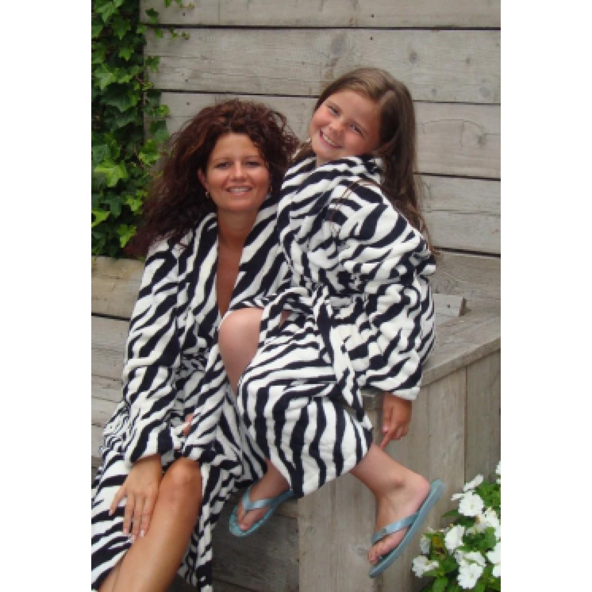 Zebra fleecebadjassen