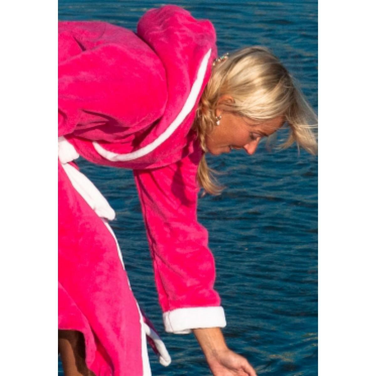 Pink met Capuchon / Dames badjas