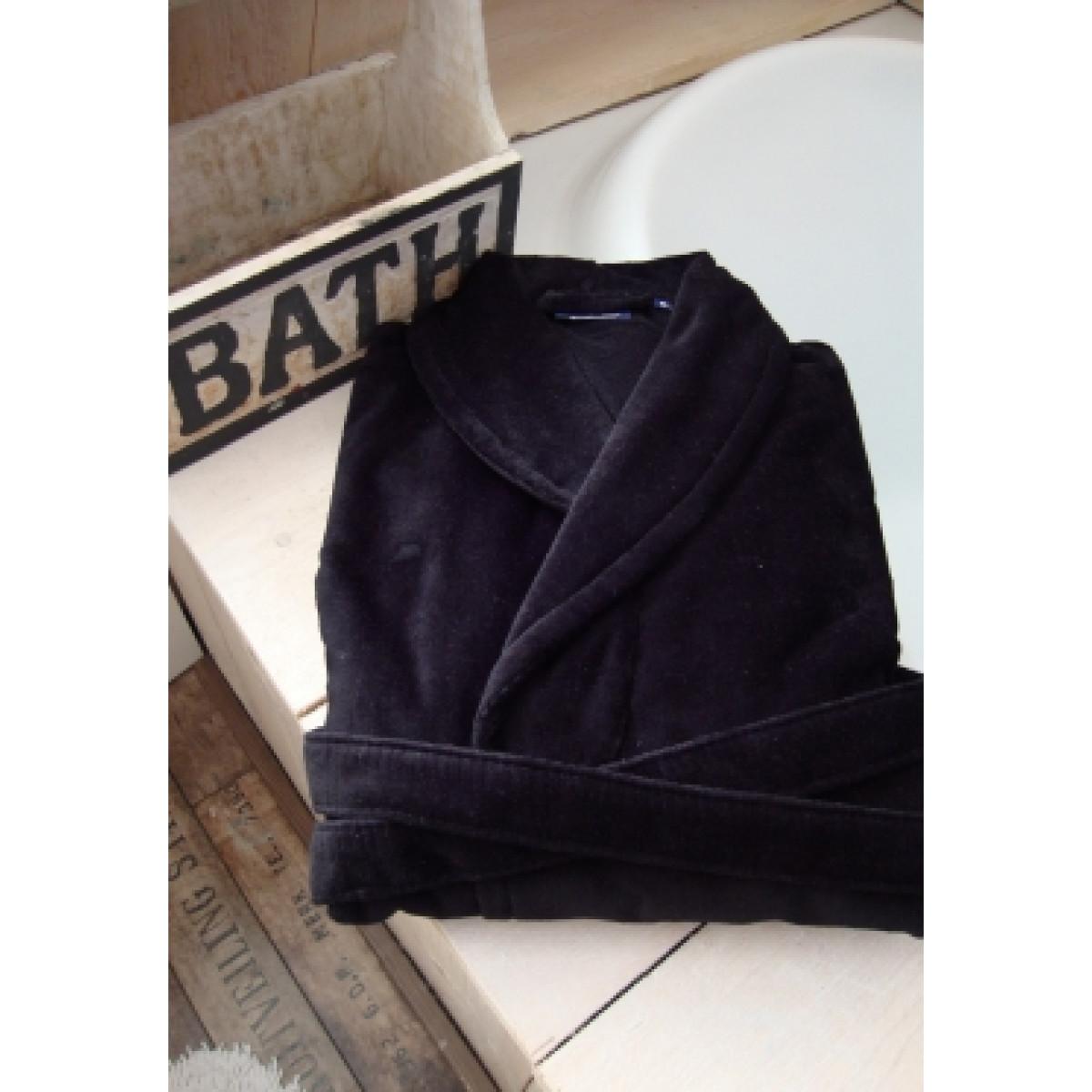 Zwarte herenbadjas