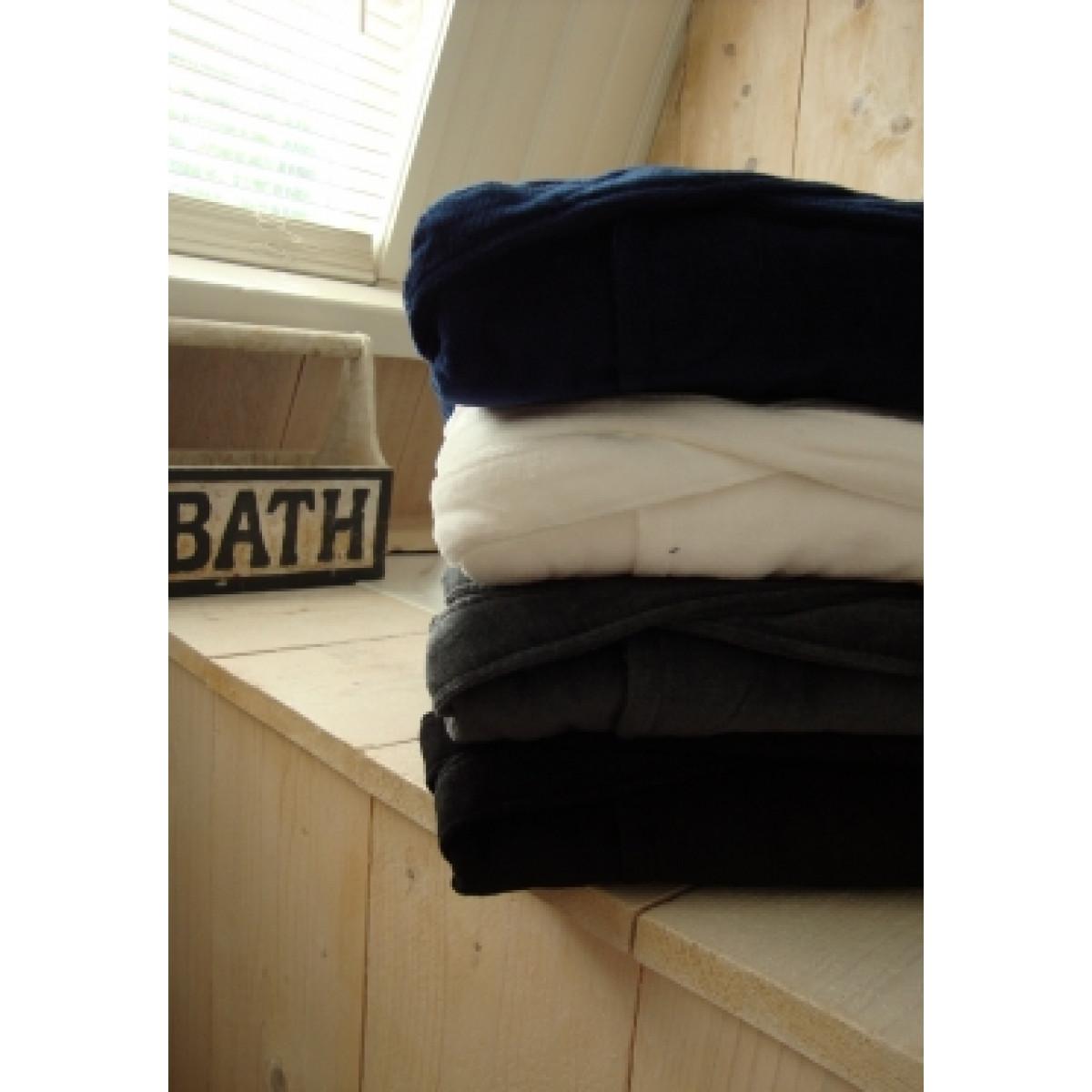 Zwarte unisex badjas