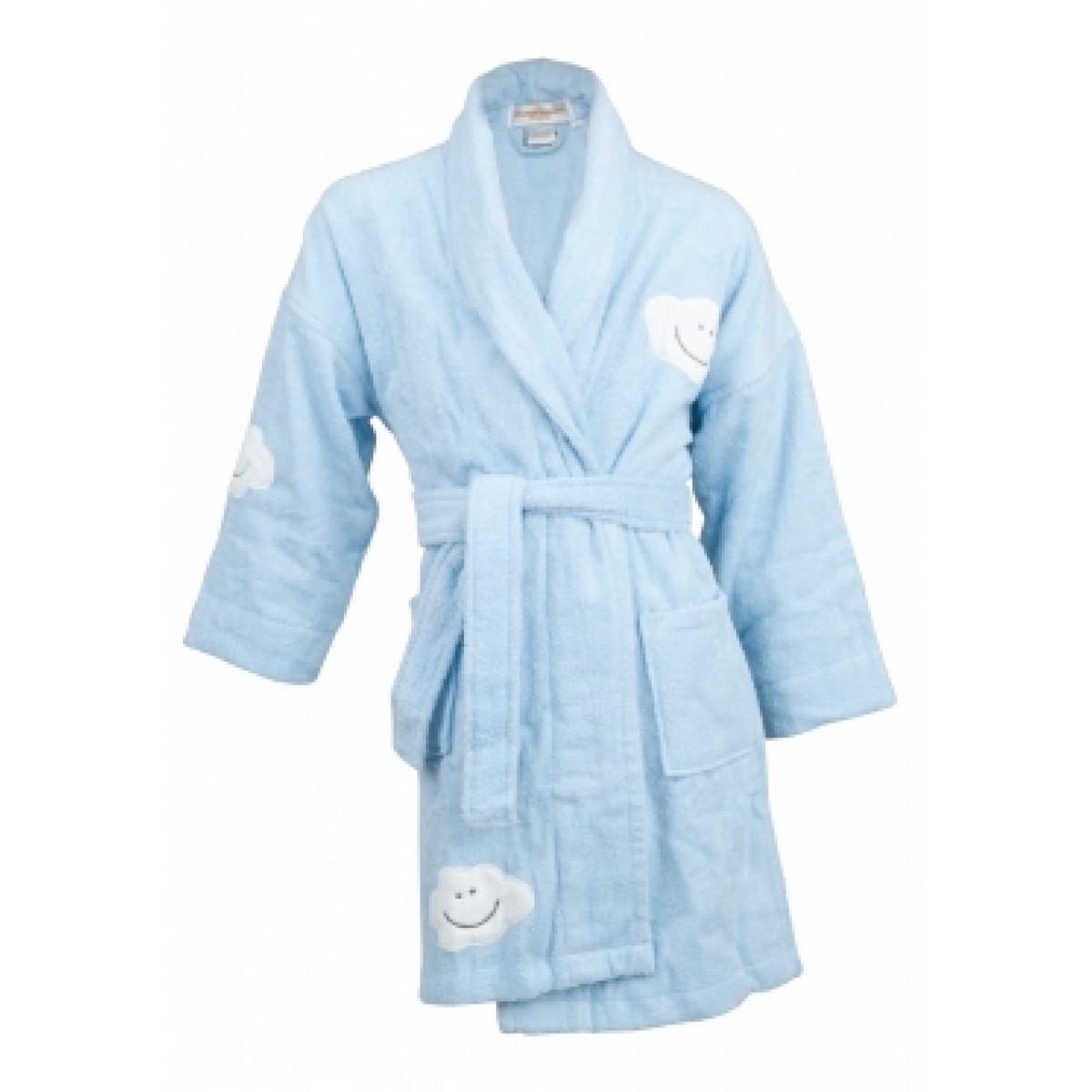 Kinder badjas met wolkjes / kinderbadjassen