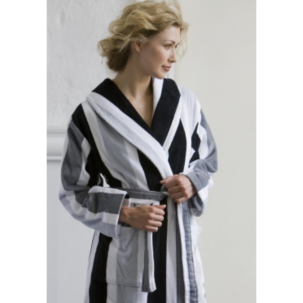 Badjas zwart-wit / badjas katoen