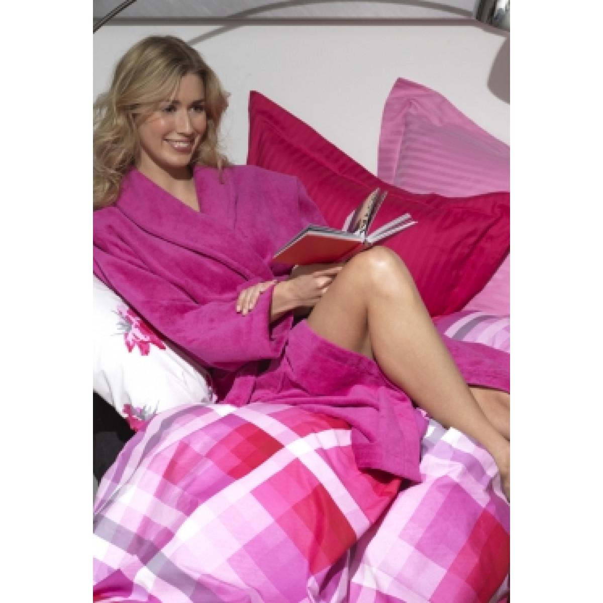 Luxe badjas roze / luxe badjas