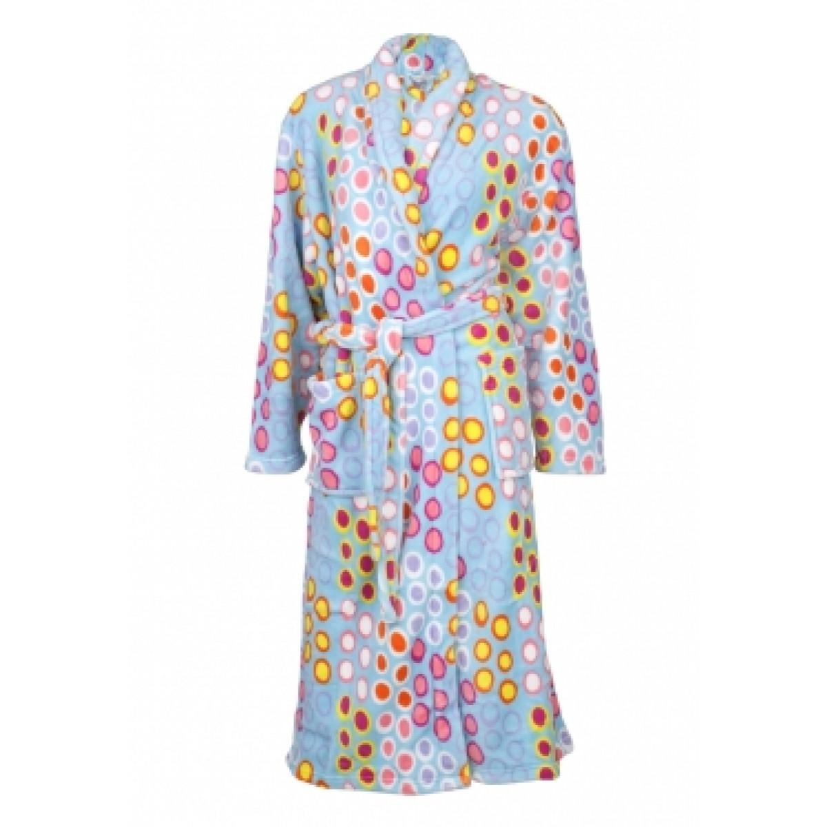 Badjas met bolletjes / blauwe badjas